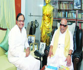 CHOGM pressure on Centre, PC meets Karunanidhi